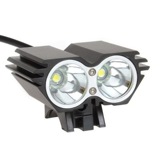 Lampara Bicicleta Recargable 5000 Lumen Doble Led T6 Vs Agua