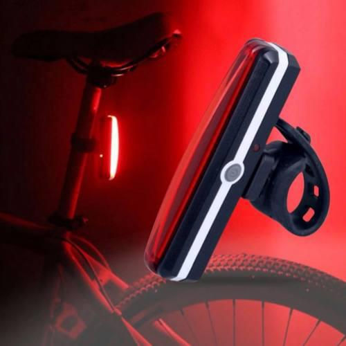 Lampara Luz Trasera Seguridad Bicicleta Recargable Usb Red