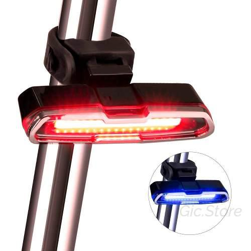 Linterna Impermeable De Luz Led Para Bicicleta Recargable