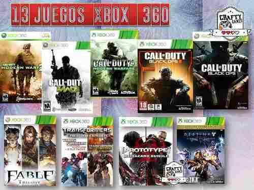 Mega Paquete 13 Juegos Xbox 360 Increible Online Originales
