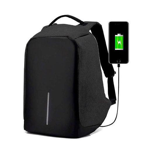 Mochila Antirrobo Impermeable Laptop Usb + Bateria Envio Msi