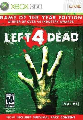 Videojuego Left 4 Dead - Xbox 360, Edición Juego Del Año