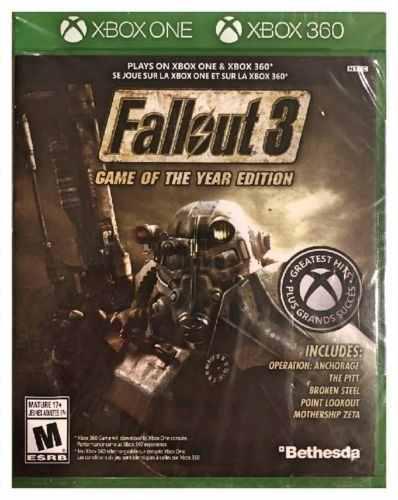 Xbox One / Xbox 360 Juego Fallout 3 Compatible Con Xbox 360