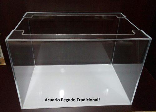 Acuario Pecera Acrilico 50 X 30 X 40 Cm Rectangular