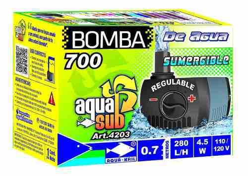 Bomba De Agua Sumergible Aquakril 280 L/h 0.7m 4.5w 4203