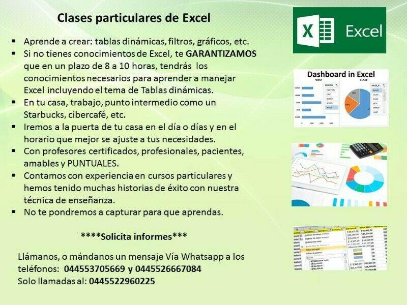 Clases de Excel en la puerta de tu casa