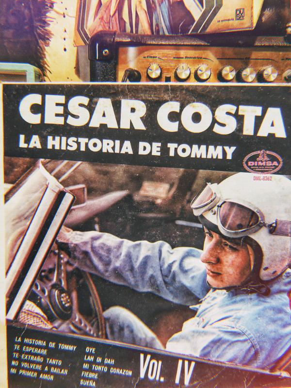Disco vinilo LP acetato 33 rpm César Costa la historia de