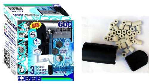Filtro Cascada 600 L/h 100-200 L 1126 + Canutillos 1238