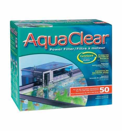 Filtro Cascada Aquaclear 50 Acuarios Peceras De 190lts Max