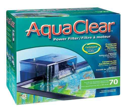 Filtro Cascada Aquaclear 70 Acuarios Peceras De 378lts Max