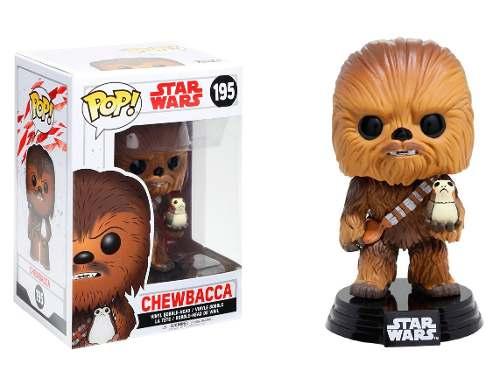 Funko Pop Chewbacca W/ Porg Star Wars Last Jedi