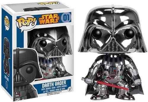 Funko Pop Darth Vader Cromado Edición Especial Star Wars