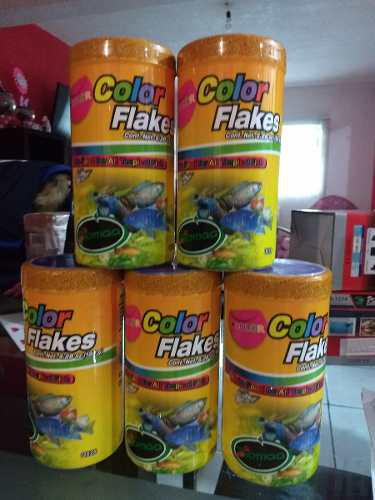 Lote 5 Alimento Biomaa Color Flakes 150 Gr.