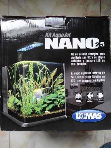 Nano Acuario 18 Litros Filtro Tapa Lámpara Led Envio