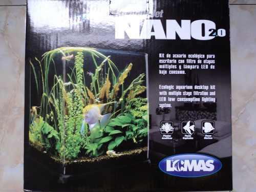 Nano Acuario 9 Litros Mod. 2.0 Con Filtro Y Lámpara Led