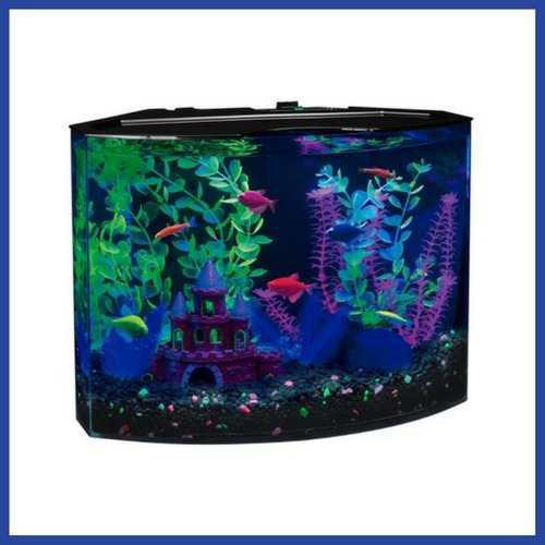 Pecera De Acrílico Con Luz Led Azul Glofish * Envío Gratis