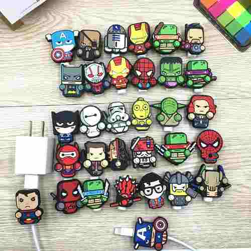 Protector De Cable De Datos Marvel Star Wars iPhone Android