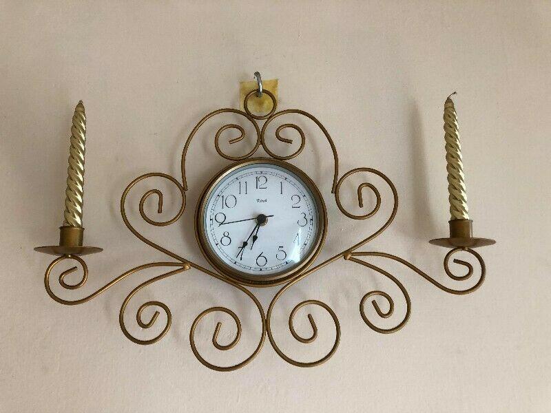 Reloj Pared con Candelabro