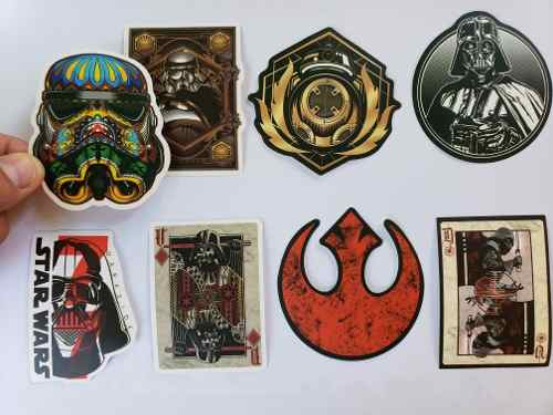 Star Wars 100 Calcomanias Stickers Pvc Contra Agua E Gratis