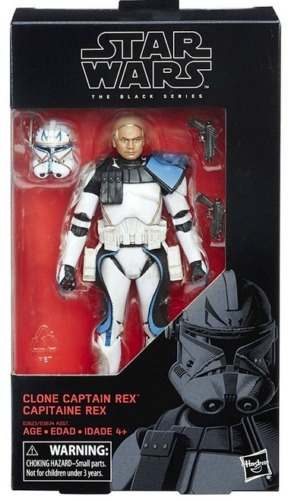 Star Wars Clone Captain Rexblack Series Hasbro