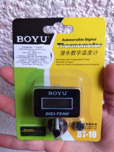 Termometro Boyu Digital Bt10 P/acuario Sumergible Rectangula
