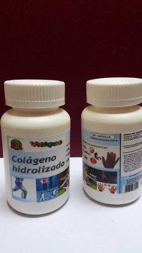 2 Frascos Capsulas Colágeno Hidrolizado De 60 Capsulas