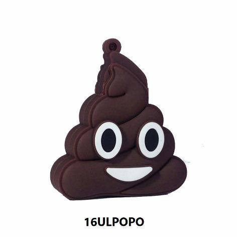Memoria Usb 16gb Figura Emoji Popó Café