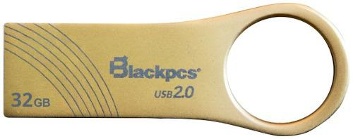 Memoria Usb 32gb Metalica Oro Blackpcs 2102 Mayoreo Barato