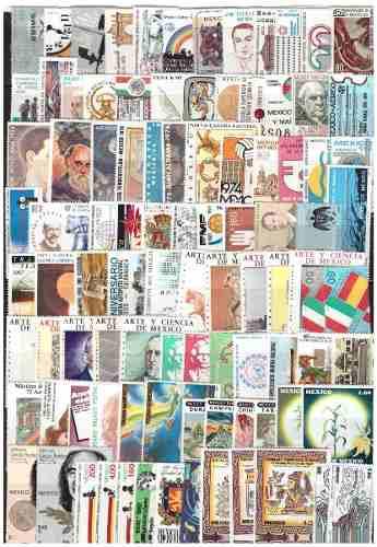 México Lote De 400 Sellos Postales Diferentes Mnh -
