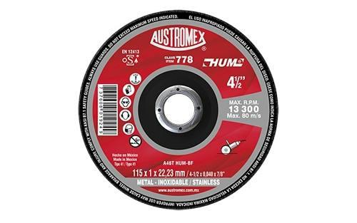 Austromex 778 Disco De Corte Acero Inoxidable.,