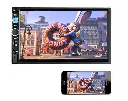 Auto Estereo Pantalla Touch 2 Din Con Mirror Link Bluetooth