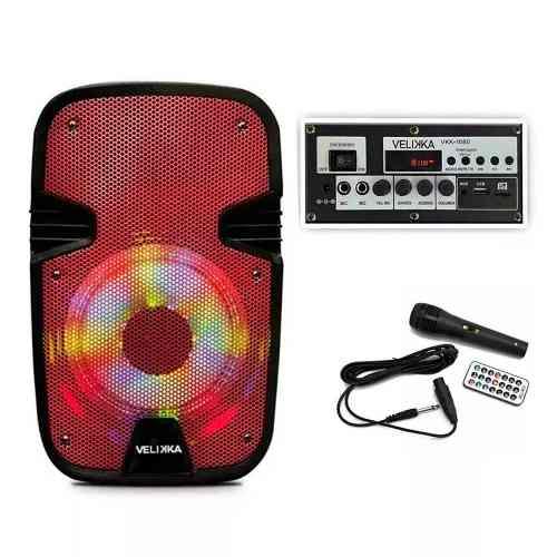 Bafles Amplificados 8 Pulgadas Bluetooth Velikka Vkk-