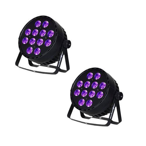 Cañon Led 12x12w Dmx Rgb Par Led Ultravioleta Luz Negra 2