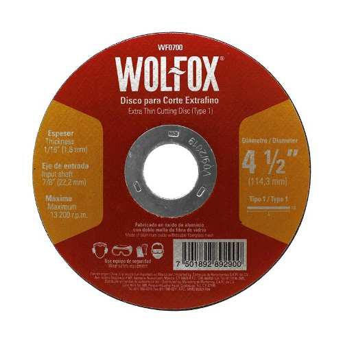 Disco Para Corte Extrafino De Metal 4-1/2 Wf0700 Wolfox