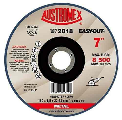 Disco Plano Para Corte De Metal 7 Austromex 2018