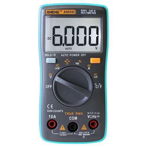 Multimetro Digital Aneng An8002 Trms Temperatura Autorango