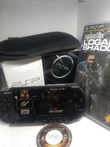 Psp Slim 3001c Con Caja, Memoria 16gb Y Juegos Incluidos.