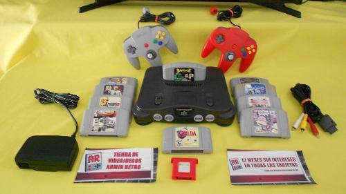 Consola Nintendo 64 N64 Con 10 Juegos Para El 10 De Mayo
