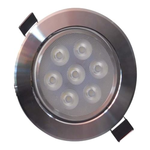 Empotrado Plafon Led 7w Spot Dirigible Satinado Luz Blanca
