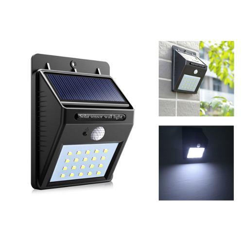 Lampara Energía Solar 20 Leds Sensor Interior / Exterior