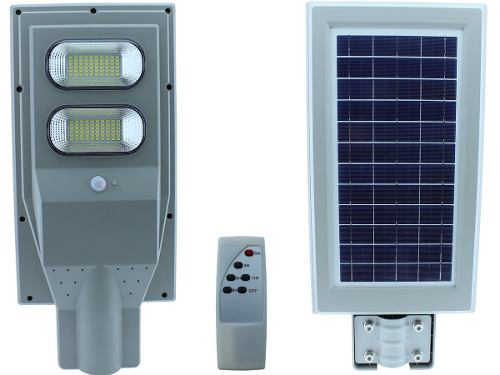 Lampara Led 60w Panel Solar Alumbrado Publico Control Remoto