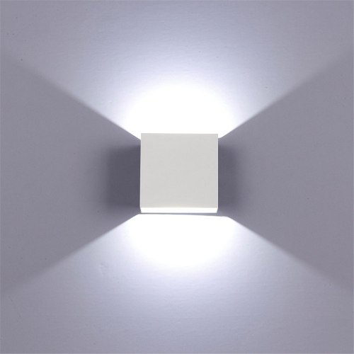 Lampara Led Moderna, De Pared O Techo, Elegante, Blanco Frio
