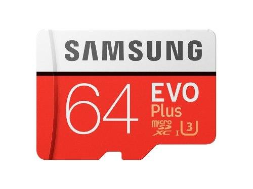 Micro Sd Samsung Evo Plus 64 Gb Memoria Clase m/s U3