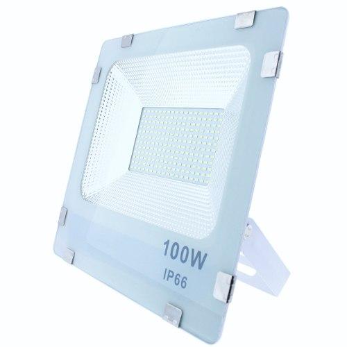 Reflector Led 100w Exterior Luz Fria Remate  Volts