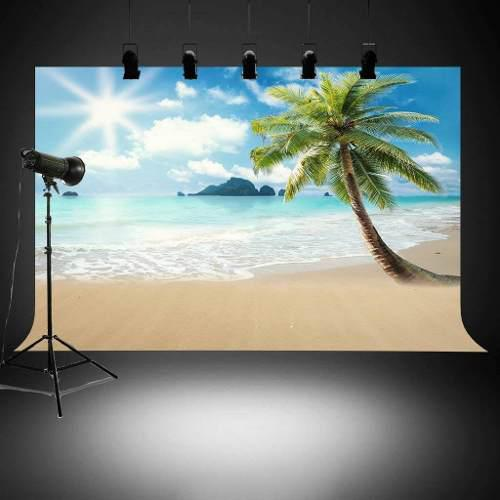 Backdrop For Summer Pictures Palm Tree Themed Photography Ba