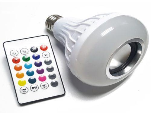 Bocina Bluetooth Foco Led Multicolor Control Remoto +envio