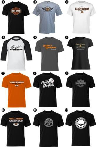 Estampado Playeras Harley Davidson Indian Triumph Ktm
