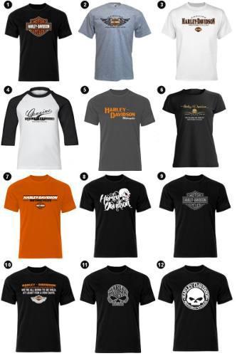 Estampado Playeras Harley Davidson Indian Triumph Ktm