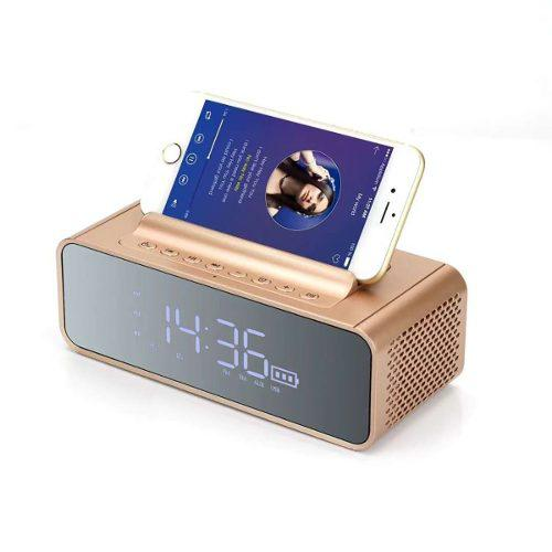Kk Bocina Bluetooth Recargable Despertador Reloj Digital M24