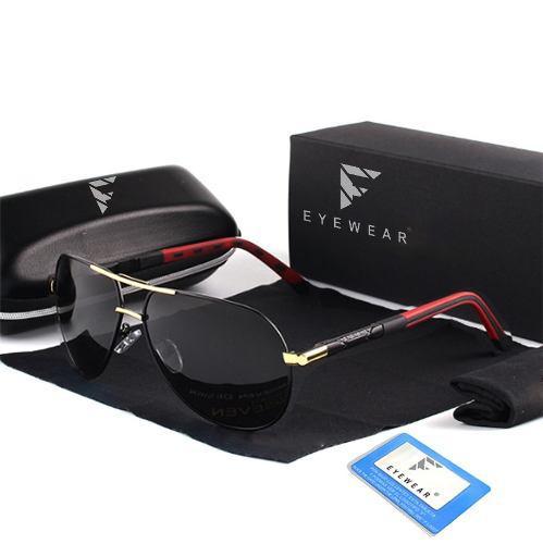 Lentes De Sol Polarizados Aluminio Tr90 Gafas Aviador Frank